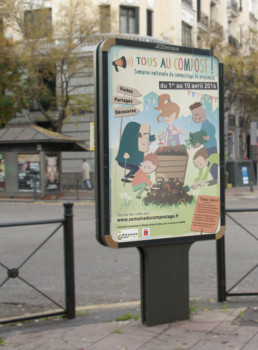 création-Affiche-chambéry-Compostaction-picopico-graphiste freelance