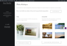 Exemple de site internet vitrine pour Photographie artistique – Jean Gaschet